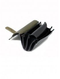 Delle Cose khaki and black calf leather wallet price