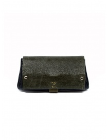 Wallets online: Delle Cose khaki and black calf leather wallet
