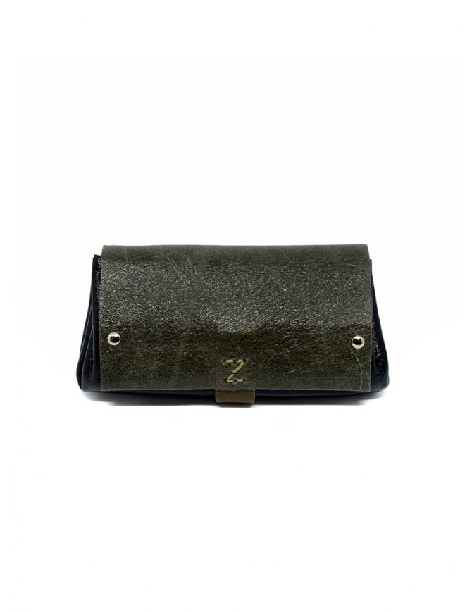 Delle Cose khaki and black calf leather wallet 82 BABYCALF VARN.KHAKI/BLK wallets online shopping