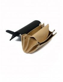 Delle Cose black and beige calf leather wallet price