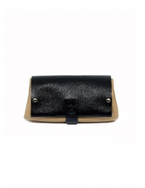 Delle Cose black and beige calf leather wallet online