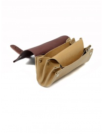 Delle Cose bordeaux and beige calf leather wallet price