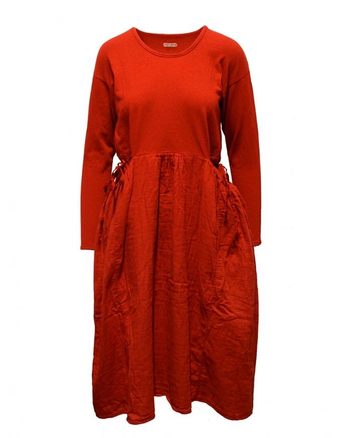 Abito Kapital rosso a manica lunga EK-463 RED abiti donna online shopping