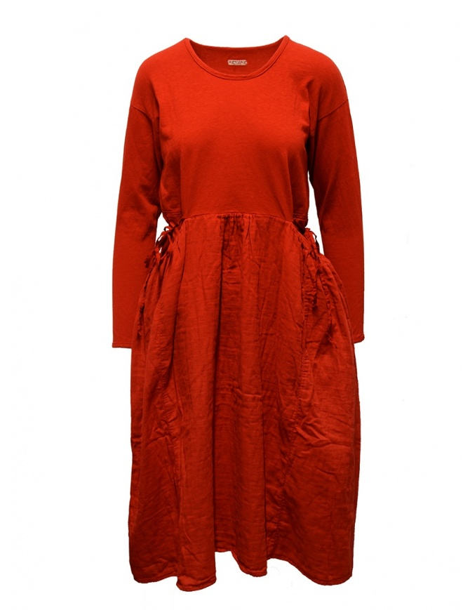 Kapital long-sleeved red long dress EK-463 RED womens dresses online shopping