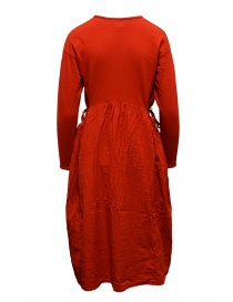 Kapital long-sleeved red long dress