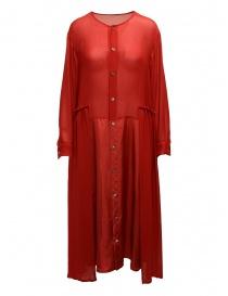 Abito Zucca rosso con balze ZU97FH123 RED order online