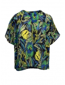 Womens knitwear online: Zucca floral navy sweater