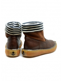 Kapital brown leather ankle boots with blue and white stripes price