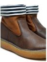 Stivaletto Kapital in pelle marrone con strisce bianche e blu EK 12 BROWN acquista online