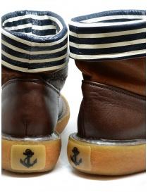Stivaletto Kapital in pelle marrone con strisce bianche e blu calzature uomo prezzo