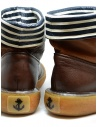 Kapital brown leather ankle boots with blue and white stripes price EK 12 BROWN shop online