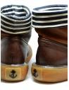 Stivaletto Kapital in pelle marrone con strisce bianche e blu prezzo EK 12 BROWNshop online