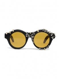 Occhiali da sole Kuboraum Maske A1 borchiati e lente ambra online