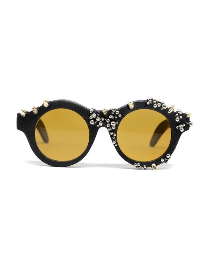 Occhiali da sole Kuboraum Maske A1 borchiati e lente ambra A1 44-21 BT PV amber occhiali online shopping