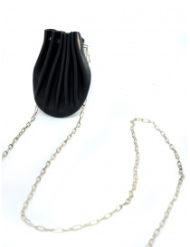 M.A+ black leather shell necklace online