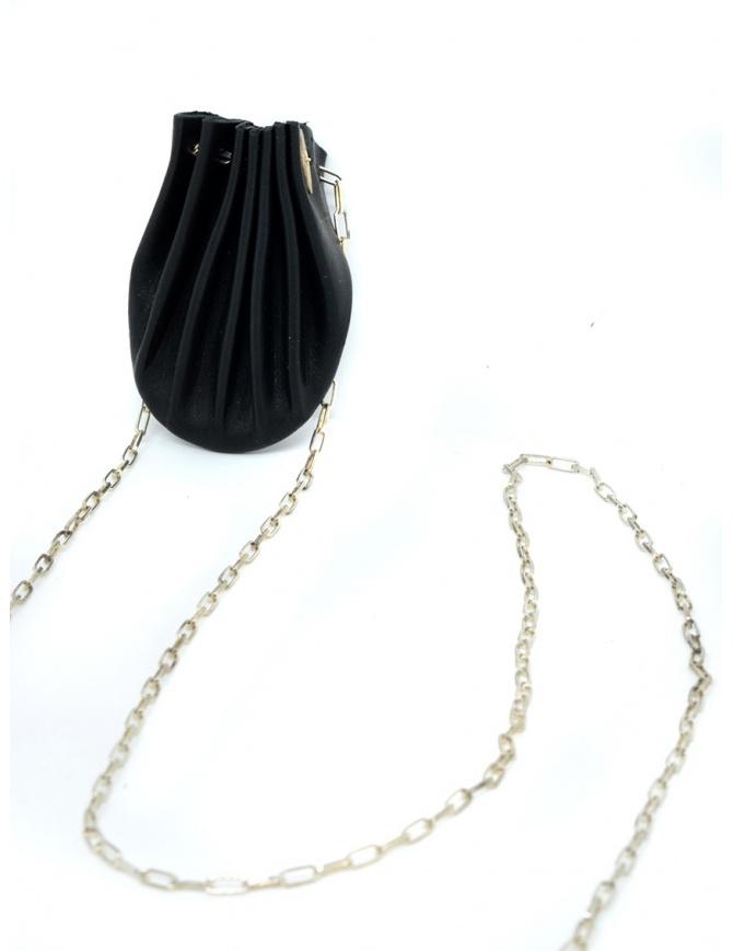 Collana M.A+ conchiglia nera in pelle A-B712 VA 1.0 BLACK preziosi online shopping