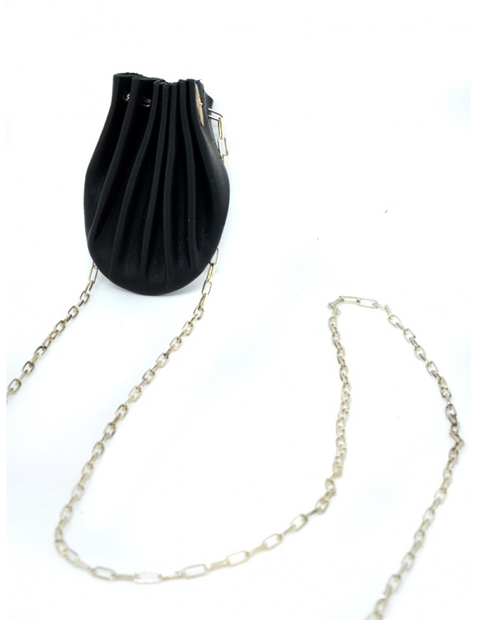 M.A+ black leather shell necklace A-B712 VA 1.0 BLACK jewels online shopping