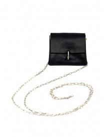 M.A+ small black leather wallet necklace online