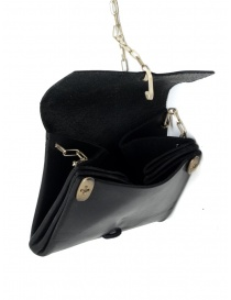 M.A+ small black leather wallet necklace