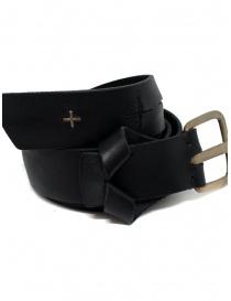 Cintura M.A+ nera con risvolto e croci traforate online
