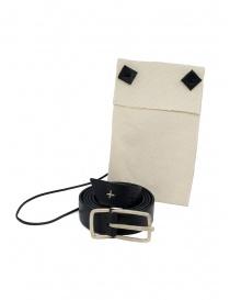 Cintura M.A+ nera con croci traforate prezzo