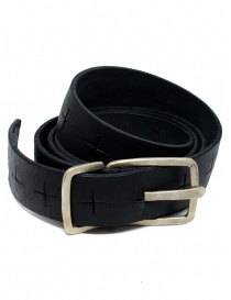 Belts online: M.A+ black belt with perforated crosses