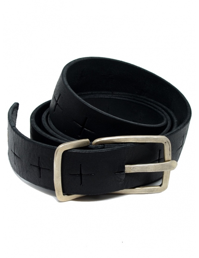 M.A+ black belt with perforated crosses EG2D GR 3.0 BLACK belts online shopping