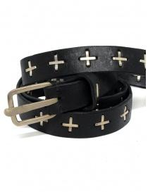 Cintura M.A+ nera con croci in argento EQ2C GR 3.0 BLACK order online
