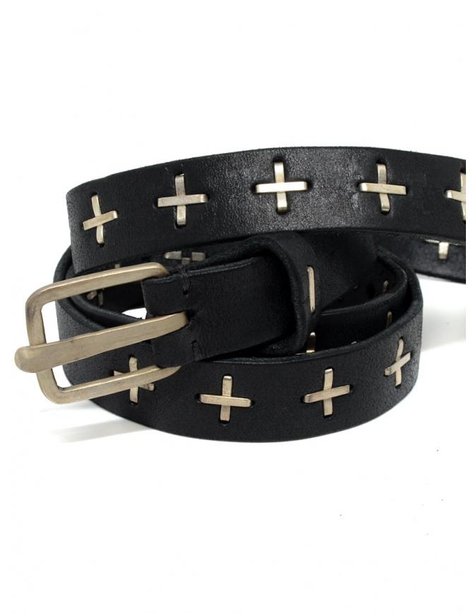Cintura M.A+ nera con croci in argento EQ2C GR 3.0 BLACK cinture online shopping