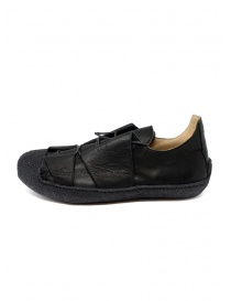 M.A+ sneaker in black leather with rough sole