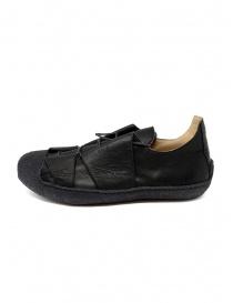 Sneaker M.A+ in pelle nera con suola ruvida