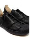 Sneaker M.A+ in pelle nera con suola ruvida OS01.10 SY1.0 BLACK/BLACK acquista online