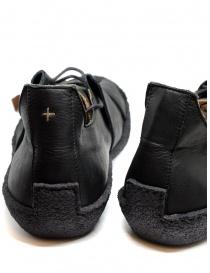 Sneaker M.A+ in pelle nera con suola ruvida acquista online prezzo