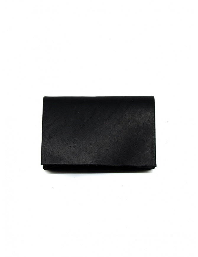 M.A+ black small black leather wallet W7 VA1.0 BLACK wallets online shopping