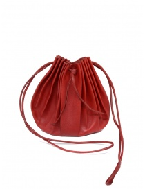 M.A+ shell handbag in red leather with laces B703 online