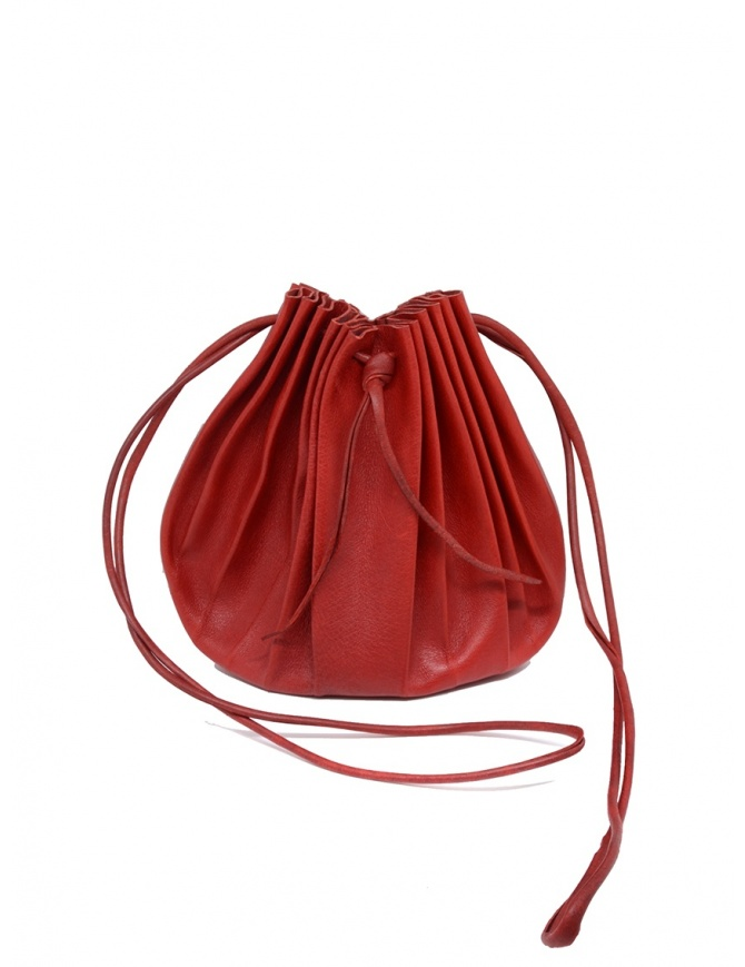 M.A+ shell handbag in red leather with laces B703 B703 MAVA 1.0 HIGH RISK RED bags online shopping