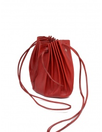 M.A+ shell handbag in red leather with laces B703