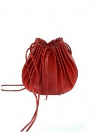 Borsetta M.A+ a conchiglia in pelle rossa con lacci B703 prezzo
