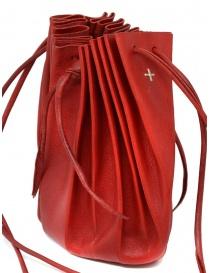 Borsetta M.A+ a conchiglia in pelle rossa con lacci B703 borse acquista online