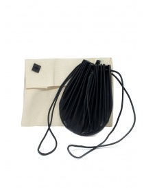 M.A+ black B703 shell bag with laces