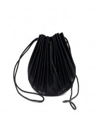 Borsetta B703 M.A+ a conchiglia in pelle nera con lacci online