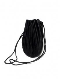 Borsetta B703 M.A+ a conchiglia in pelle nera con lacci prezzo