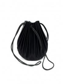 Borsetta B703 M.A+ a conchiglia in pelle nera con lacci borse acquista online