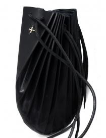 Borsetta B703 M.A+ a conchiglia in pelle nera con lacci borse prezzo