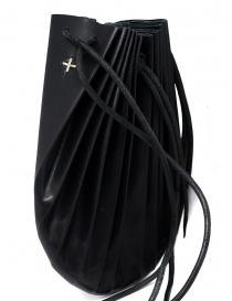 M.A+ black B703 shell bag with laces bags price