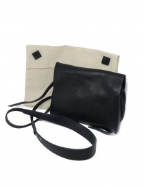M.A+ black shoulder bag with flap