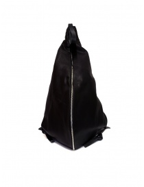 M.A+ triangle backpack in black leather online