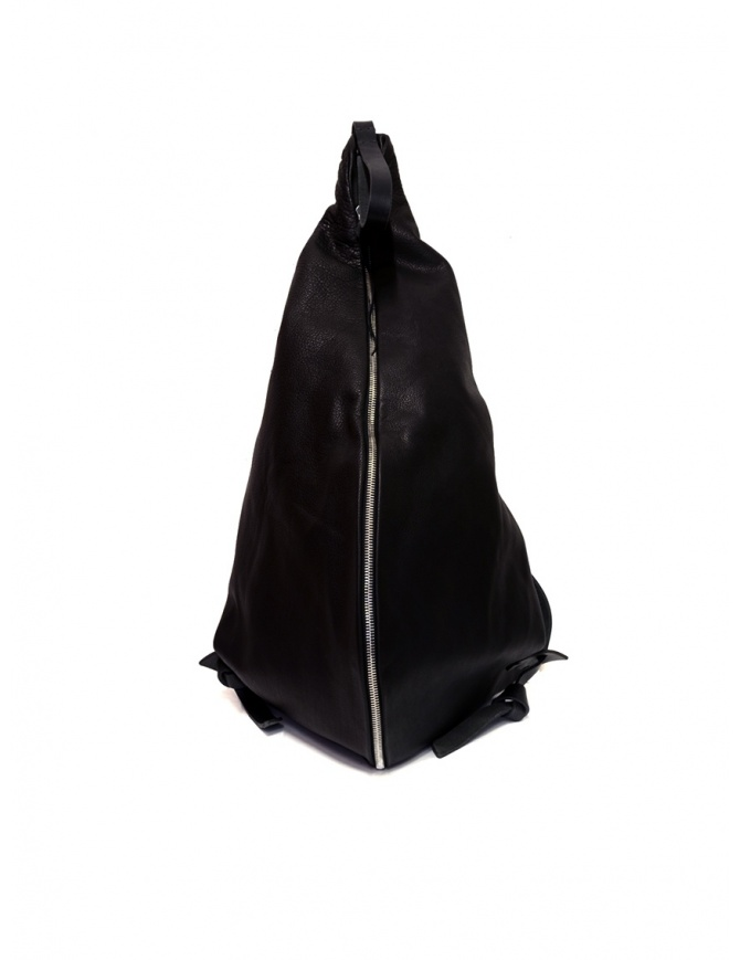 M.A+ triangle backpack in black leather BS300 SY 1.0 BLACK bags online shopping