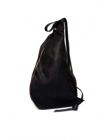 M.A+ triangle backpack in black leather