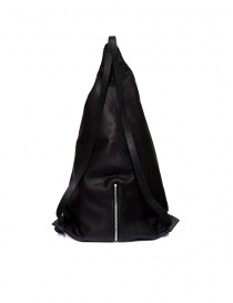 M.A+ triangle backpack in black leather price